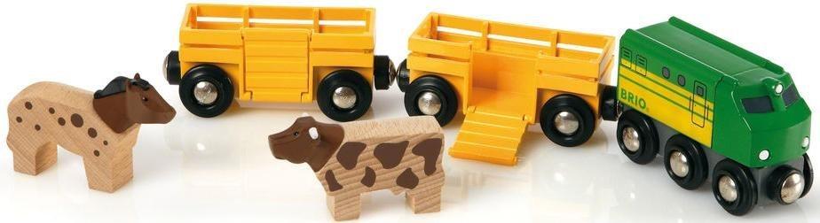 BRIO® Spielzeugeisenbahn mit Viehtransporter Waggons,  Brio WORLD Bauernhof Zug  online kaufen