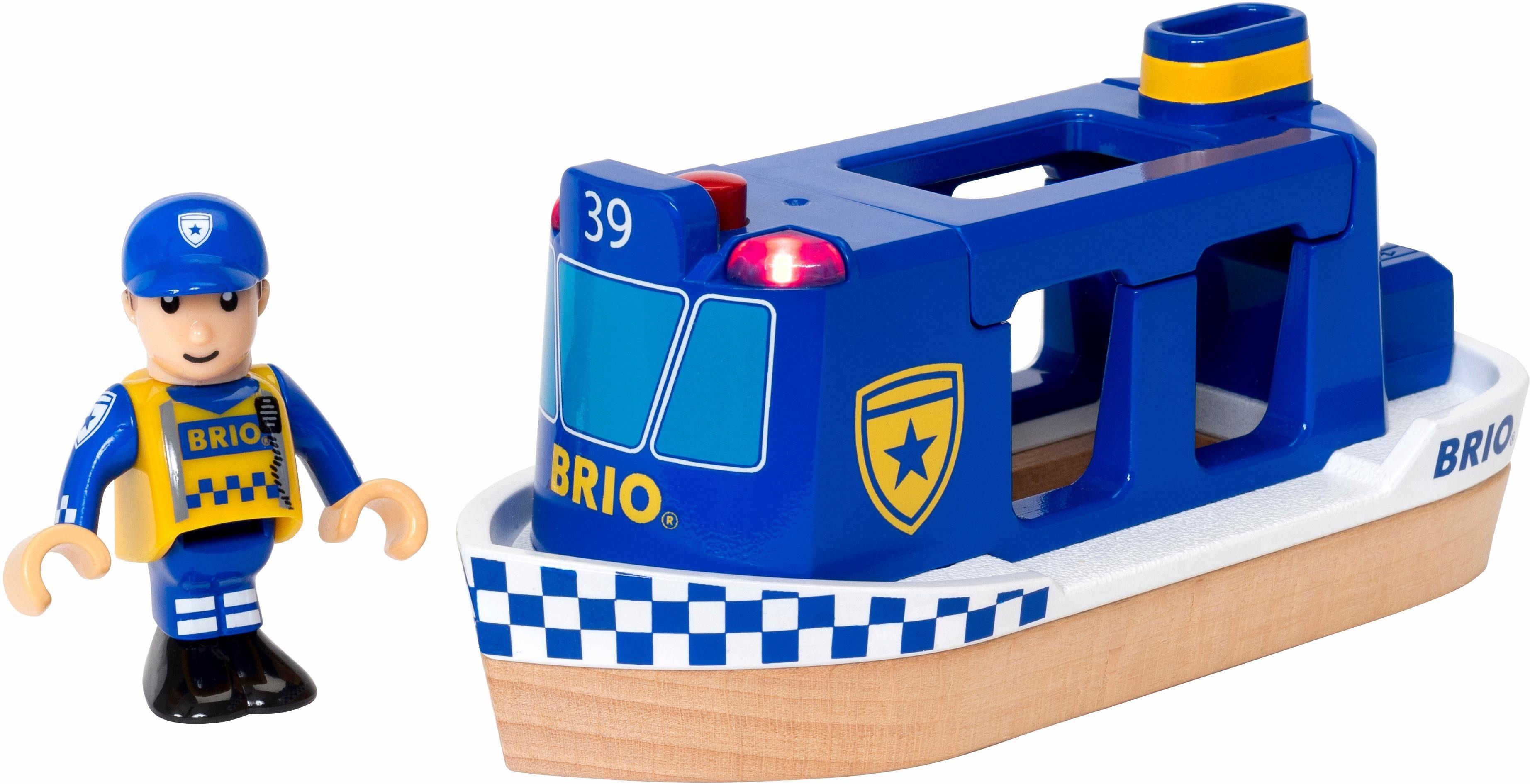 BRIO® Spielzeugboot, »Brio WORLD Polizeiboot mit Licht und Sound«