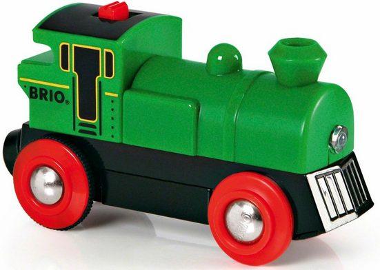BRIO® Spielzeug-Eisenbahn »WORLD Speedy Green Batterielok«, mit Lichtfunktion