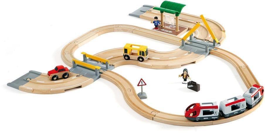 Brio игрушки Eisenbahn Brio World Straßen Schienen Reisezug Set