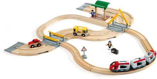 BRIO® Spielzeug-Eisenbahn »Brio WORLD Straßen & Schienen Reisezug Set«