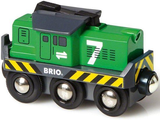BRIO® Spielzeug-Eisenbahn »Brio WORLD Batterie Frachtlok«, mit Lichtfunktion