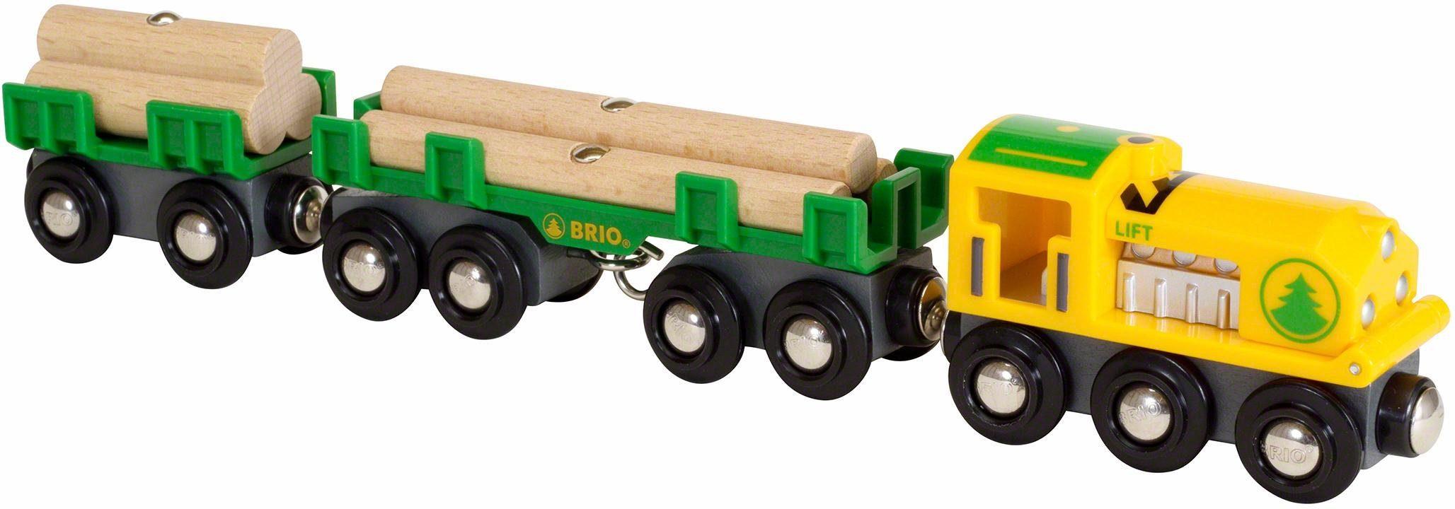 BRIO® Spielzeugeisenbahn, »BRIO® WORLD Holztransportzug«
