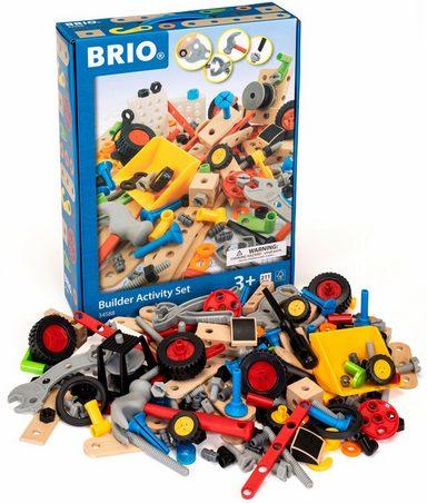 BRIO® Konstruktionsspielsteine »Builder Kindergartenset«, Holz, Kunststoff, (211 St)