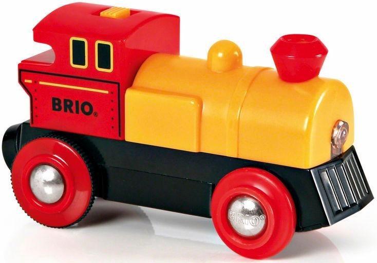 Brio игрушки Eisenbahn Brio World Gelbe Batterielok Mit Lichtfunktion