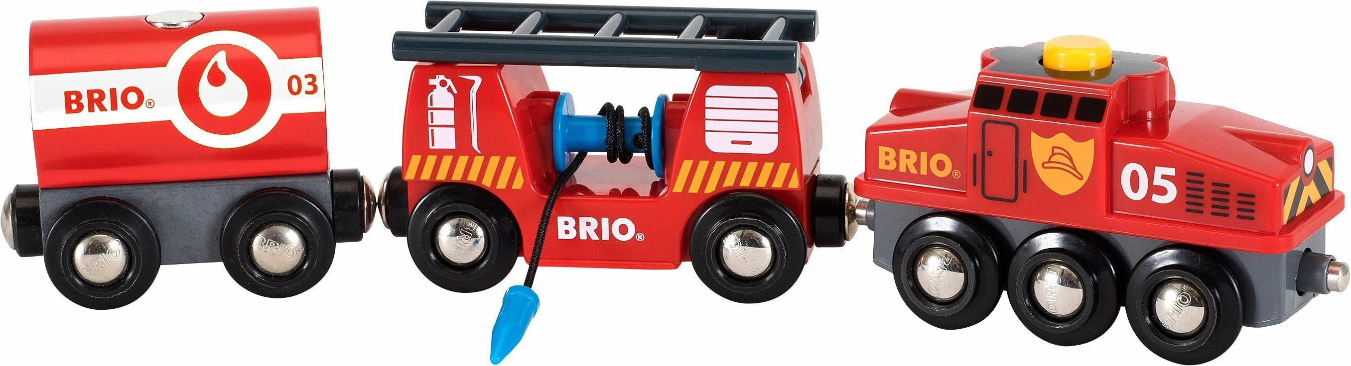 BRIO® Spielzeugeisenbahn, »Brio WORLD Feuerwehr Löschzug«
