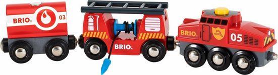 BRIO® Spielzeug-Eisenbahn »Brio WORLD Feuerwehr Löschzug«