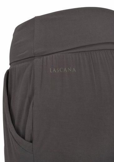 LASCANA Lange Yoga & Relaxhose mit Umschlagbund
