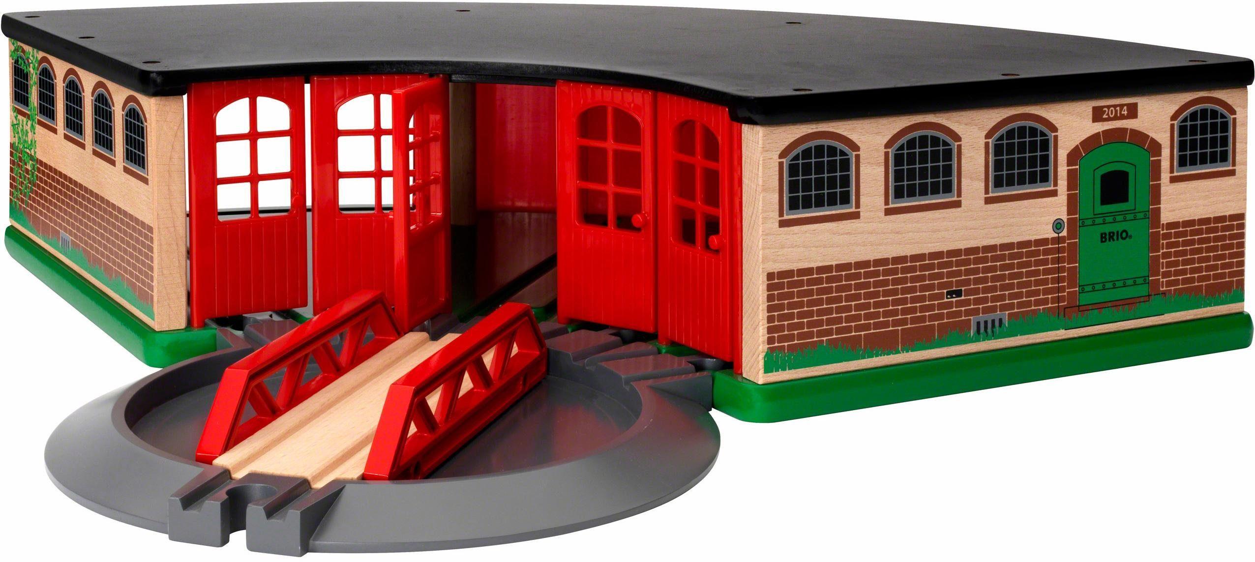 BRIO® Zubehör für Spielzeugeisenbahn, »BRIO® WORLD Großer Ringlokschuppen«