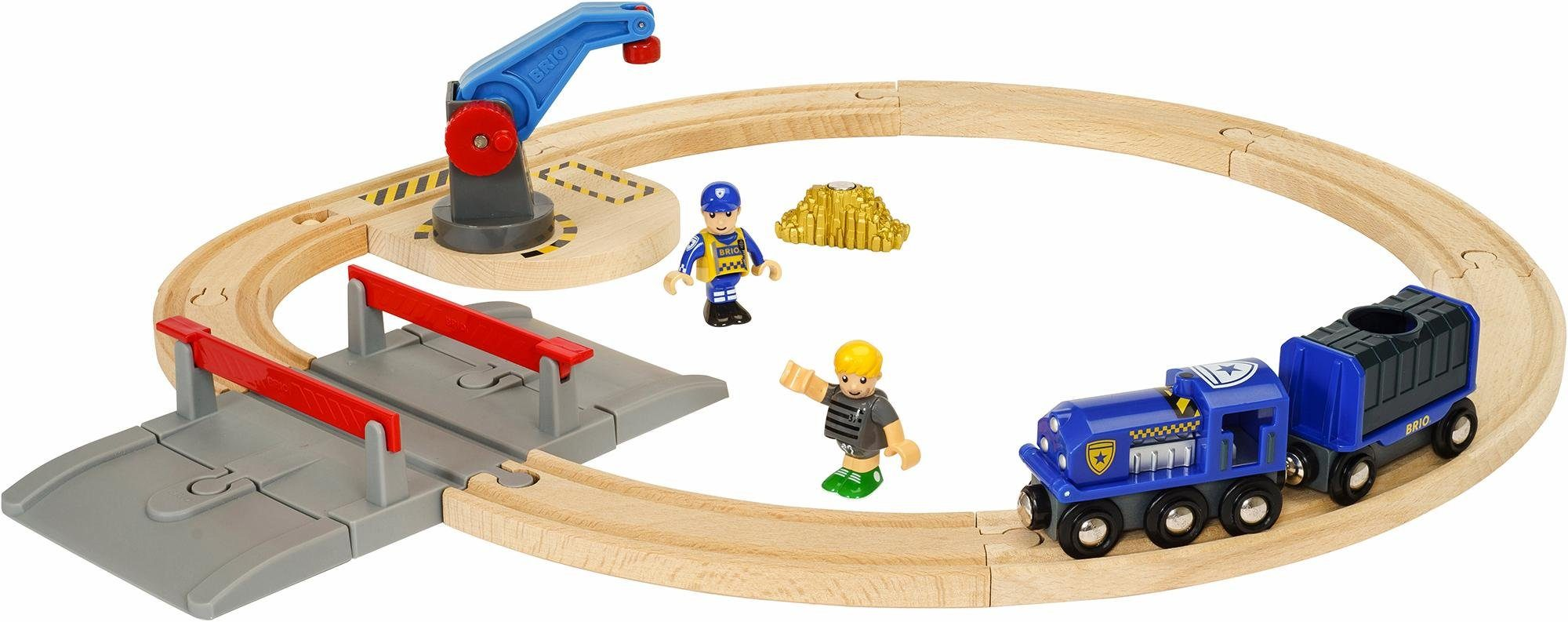 BRIO® Spielset mit Magnet, »Brio WORLD Polizei Goldtransportset«