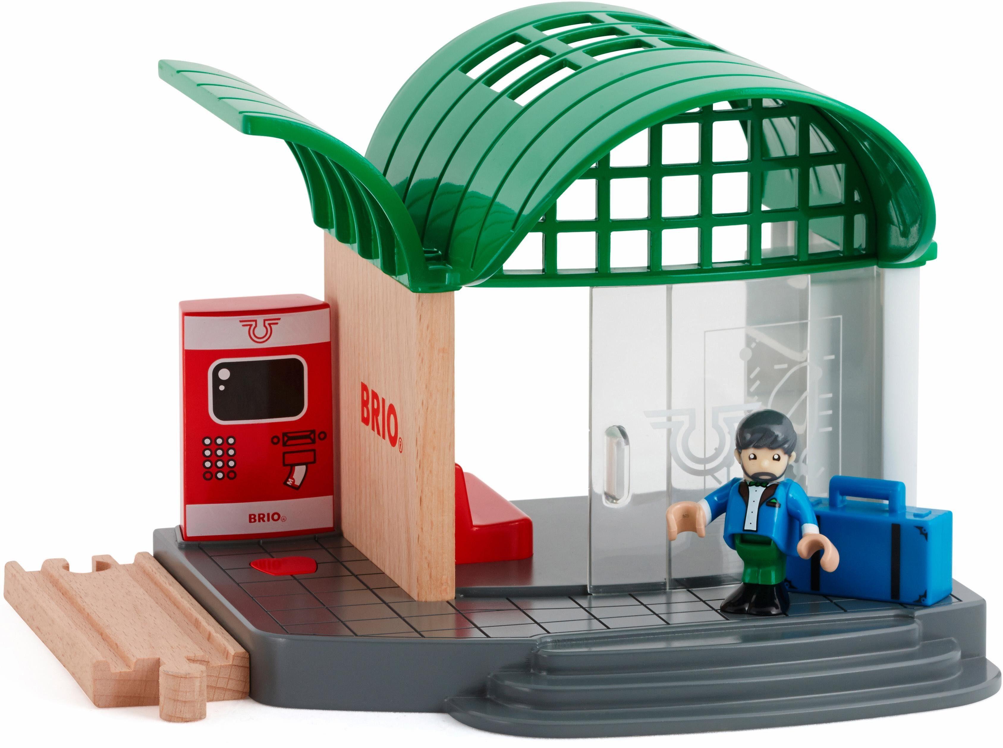 BRIO® Zubehör für Spielzeugeisenbahn, »BRIO® WORLD Bahnhof mit Sound«