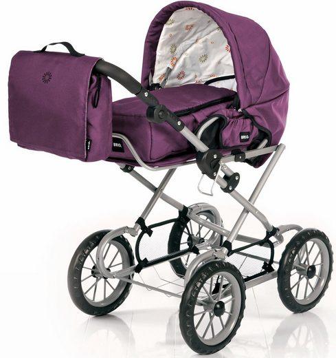 BRIO® Puppenwagen »Combi, violett«, mit Wickeltasche