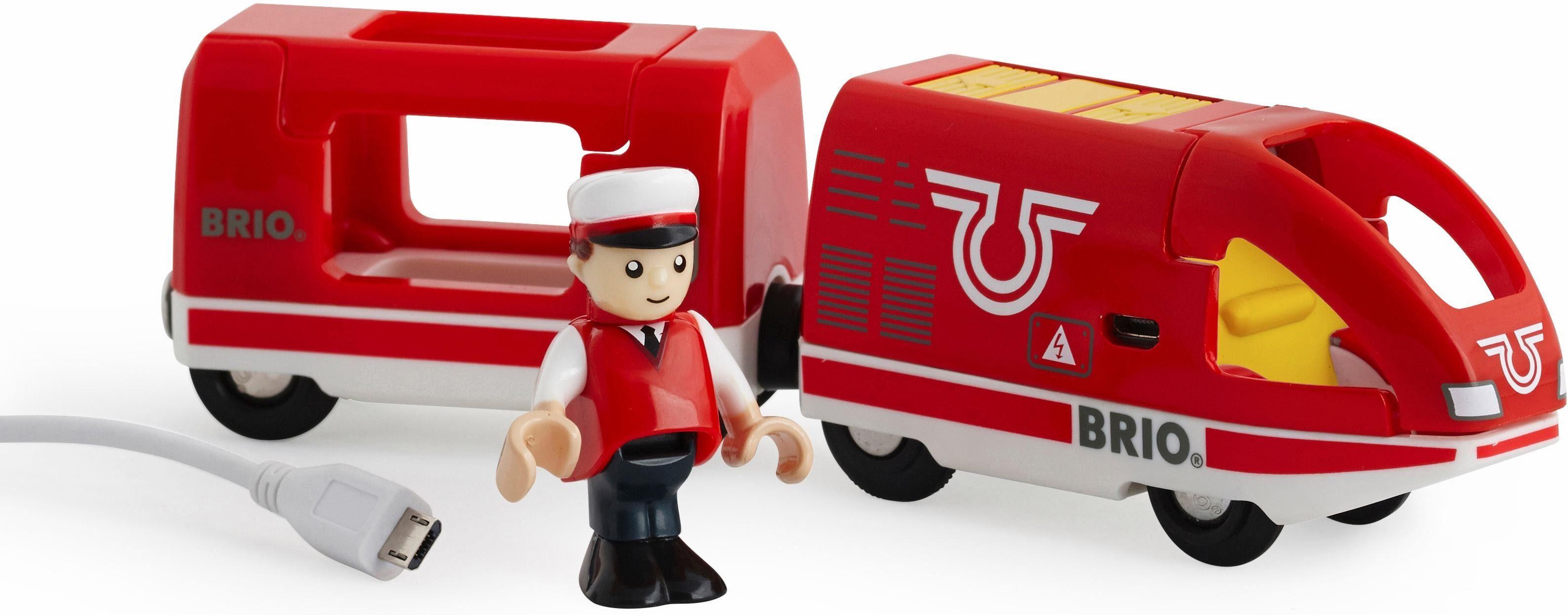 BRIO® Spielzeugeisenbahn, »BRIO® WORLD Roter Akkureisezug«