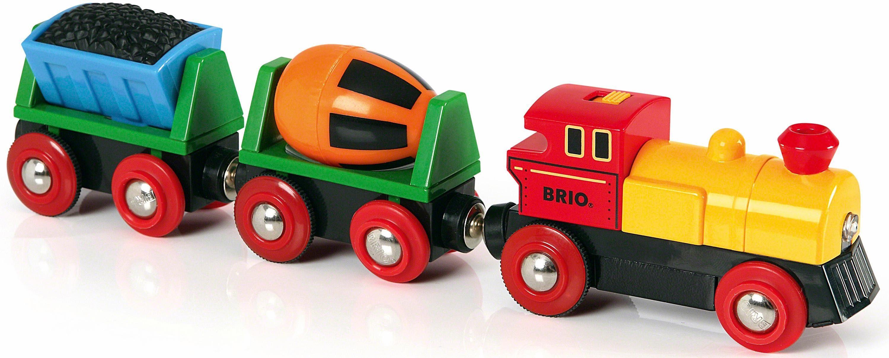 BRIO® Spielzeugeisenbahn mit Licht, »Brio WORLD Zug mit Batterielok«