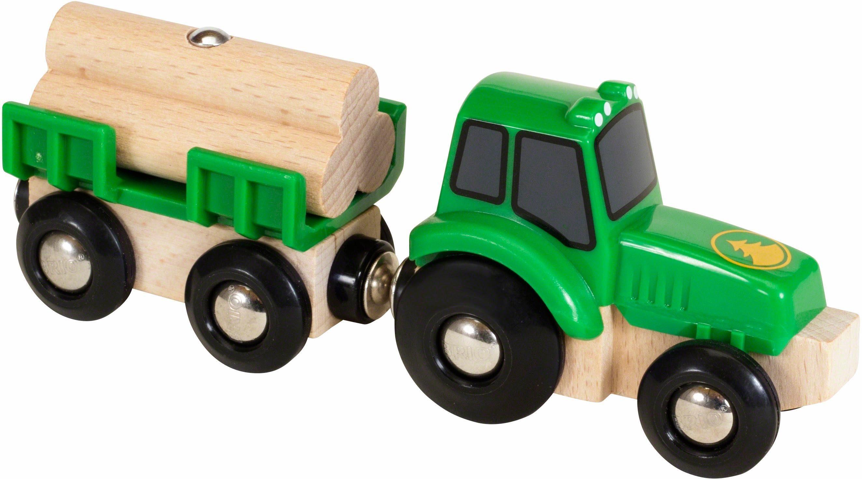 BRIO® Spielzeugtraktor, »BRIO® WORLD Traktor mit Holzanhänger«