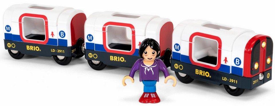 Brio Spielzeug Eisenbahn Brio World U Bahn Mit Licht Und Sound Online Kaufen Otto