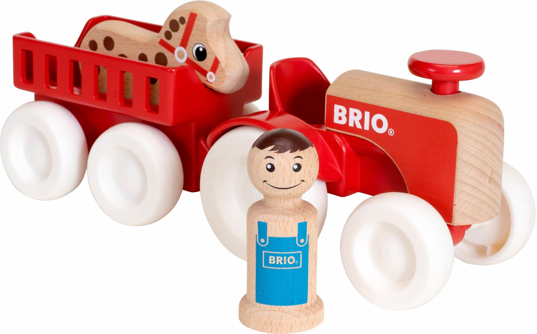 BRIO® Spielfahrzeug aus Holz, »Traktor mit Pferdeanhänger«