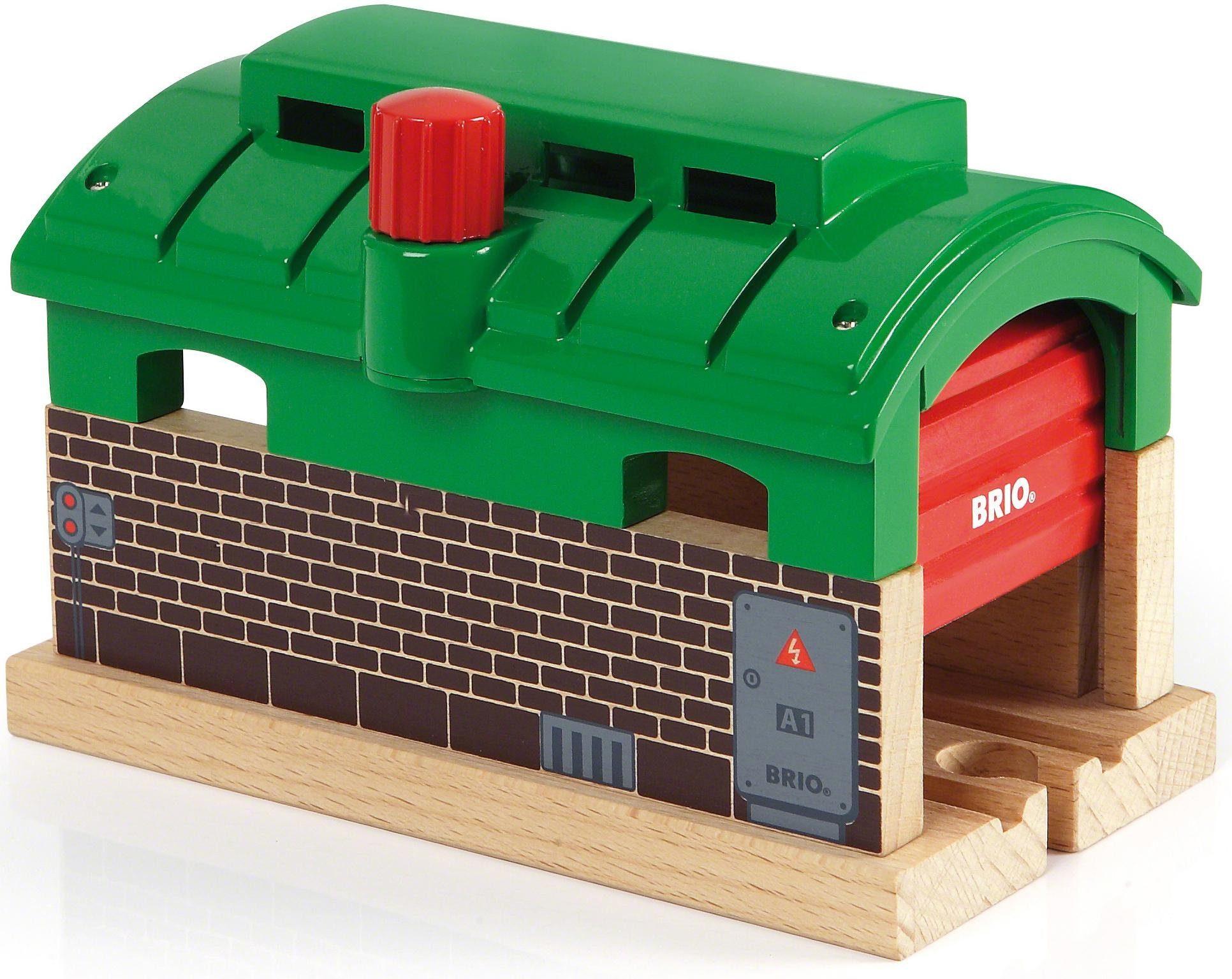 BRIO® Zubehör für Spielzeugeisenbahn, »Brio WORLD Lokschuppen mit Rolltor«