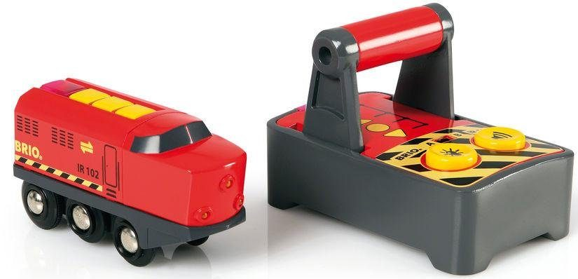 BRIO® Spielzeugeisenbahn mit Licht und Soundfunktion, »Brio WORLD IR Frachtlok«