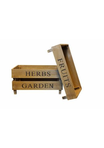 HOME AFFAIRE Kiste »Fruit Herbs Garden« (Rinkinys 3...