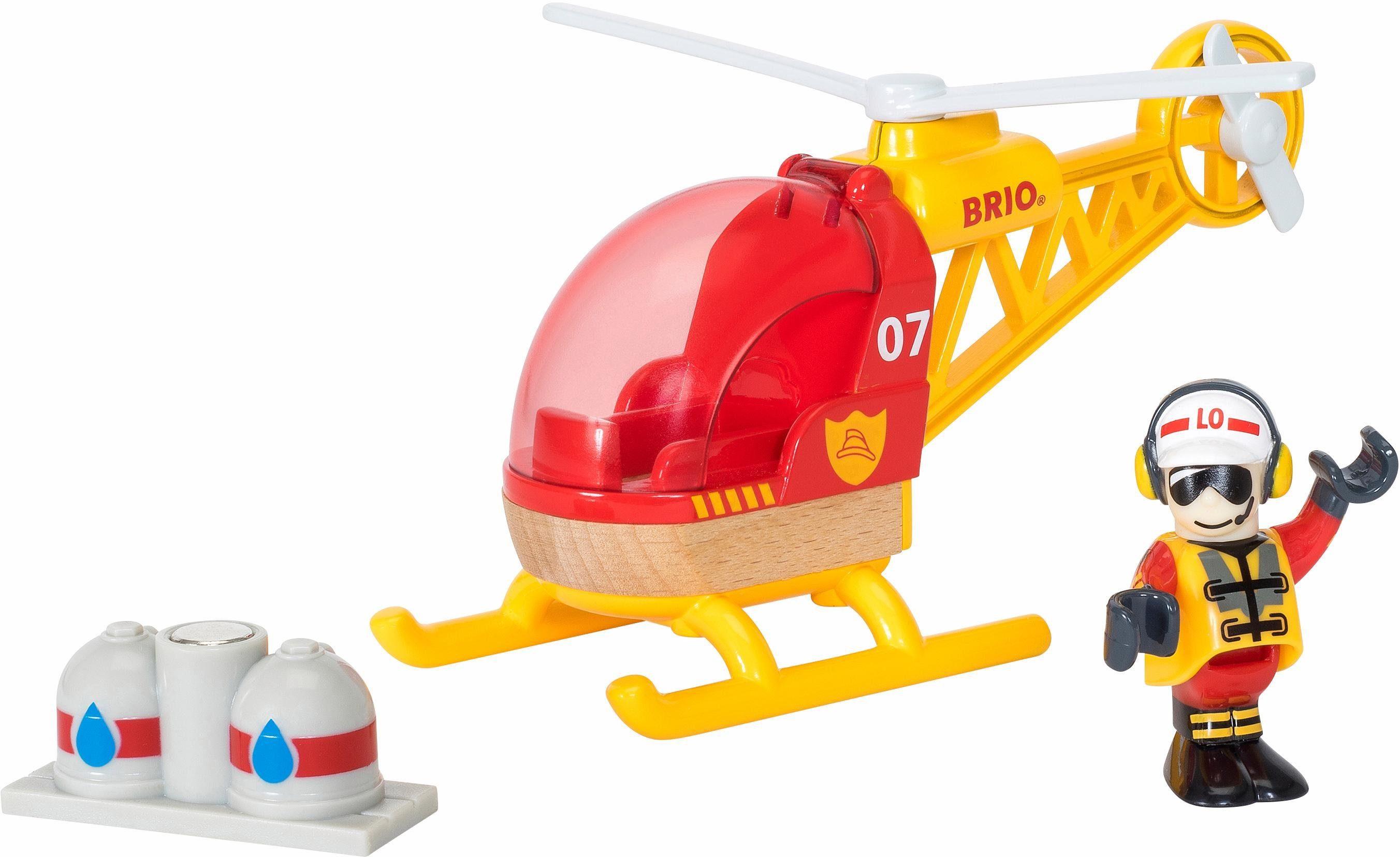 BRIO® Spielzeughubschrauber mit Magnet, »BRIO® WORLD Feuerwehrhubschrauber«