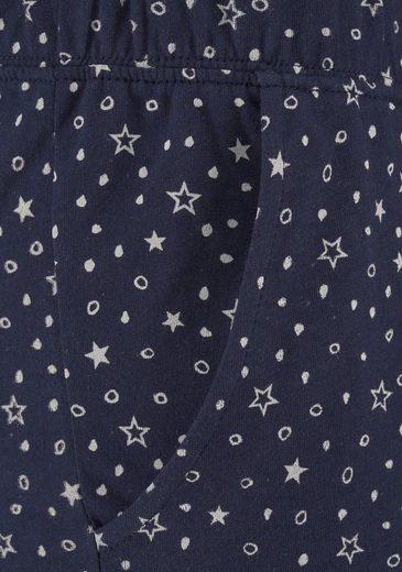 LASCANA Schmale Pyjamahose mit Pünktchen