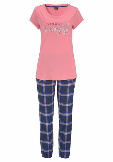 H.I.S Flanell-Pyjama mit karierter Longpants