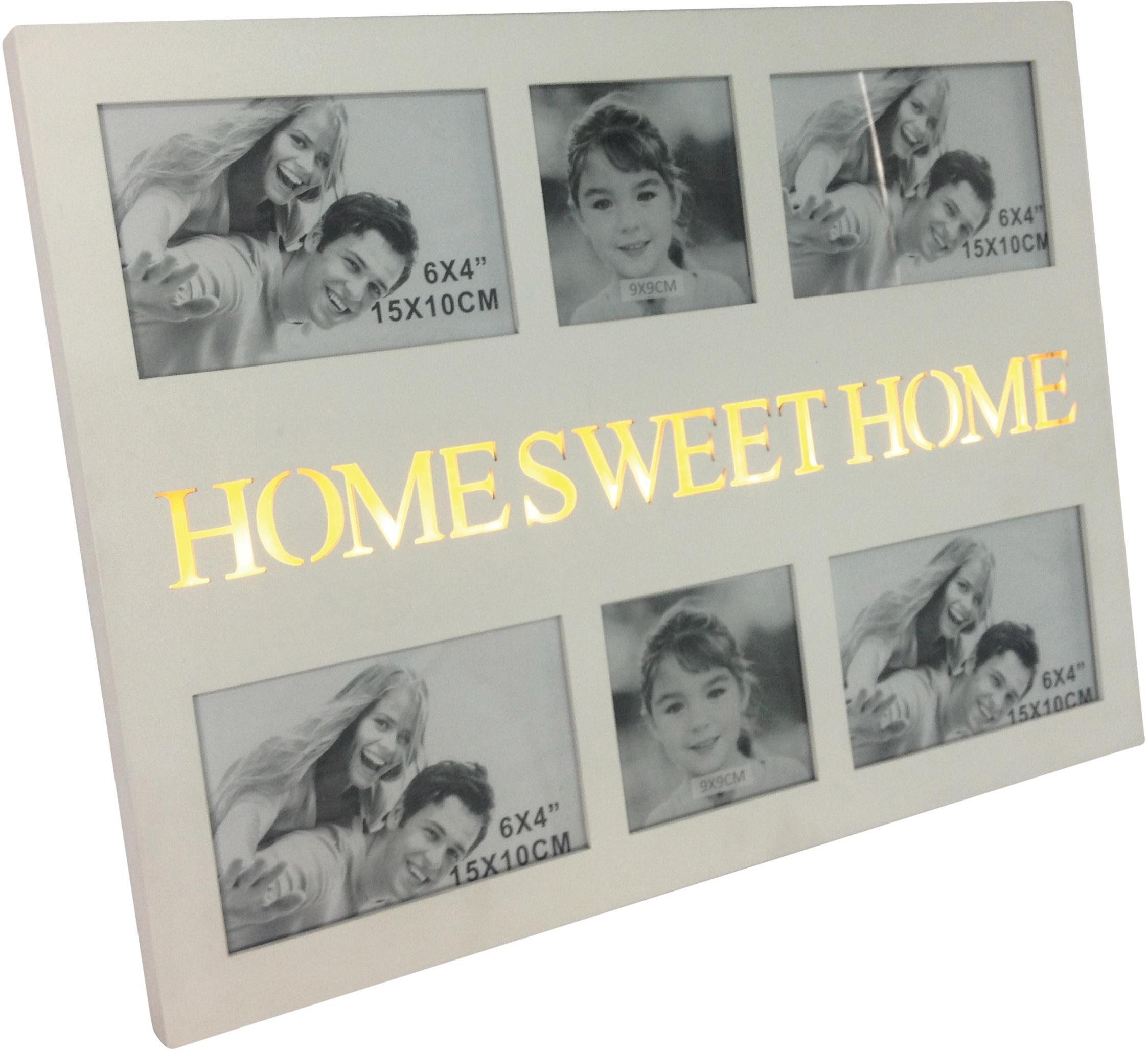 Home affaire LED-Bilderrahmen, für 6 Bilder