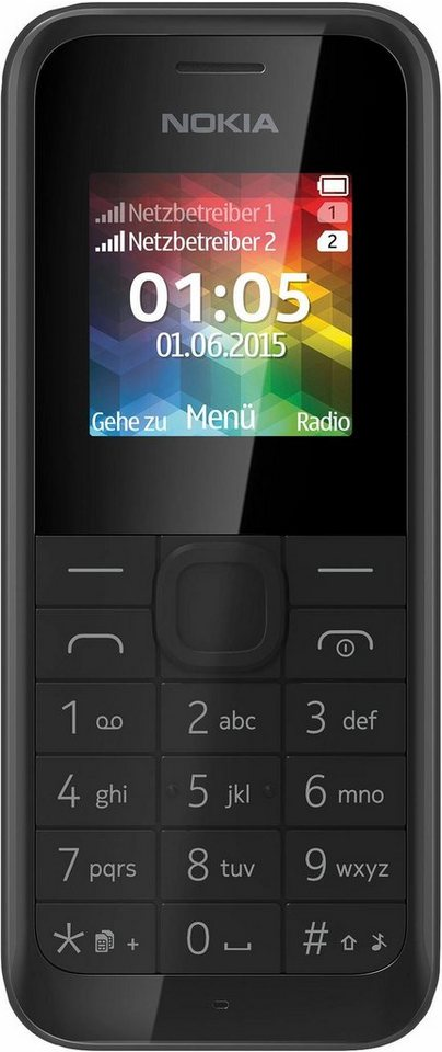 nokia 105 dual sim handy 1 4 zoll display kaufen otto. Black Bedroom Furniture Sets. Home Design Ideas