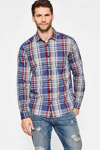 ESPRIT CASUAL Glencheck-Hemd aus 100% Baumwolle Sale Angebote Jämlitz-Klein Düben