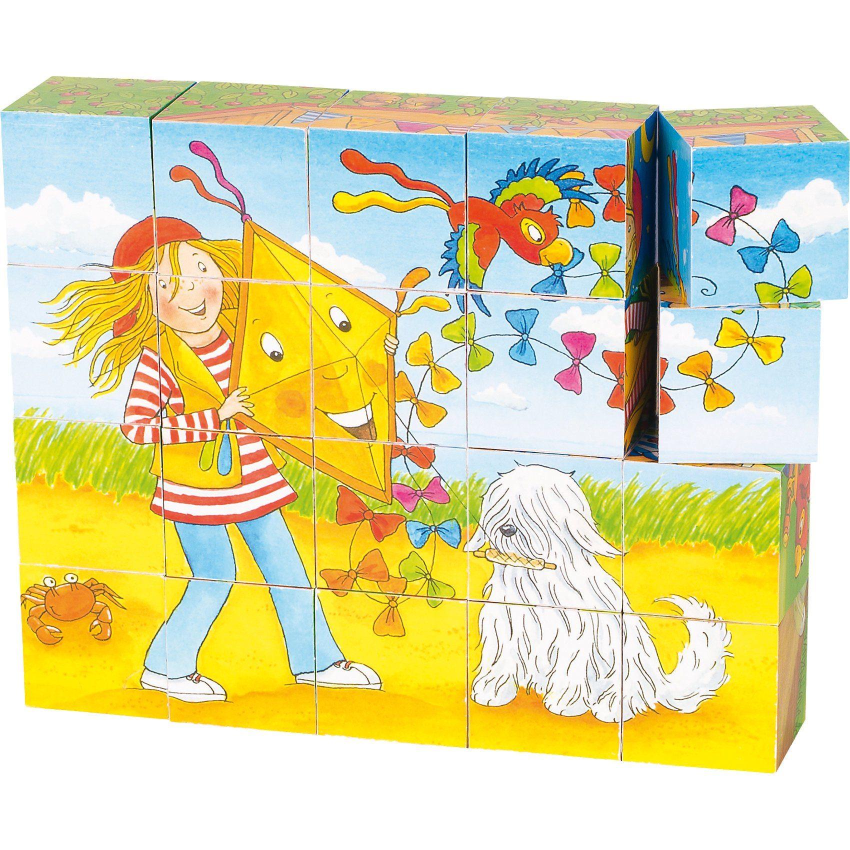 goki Würfelpuzzle Peggy Diggledey, 20 Würfel