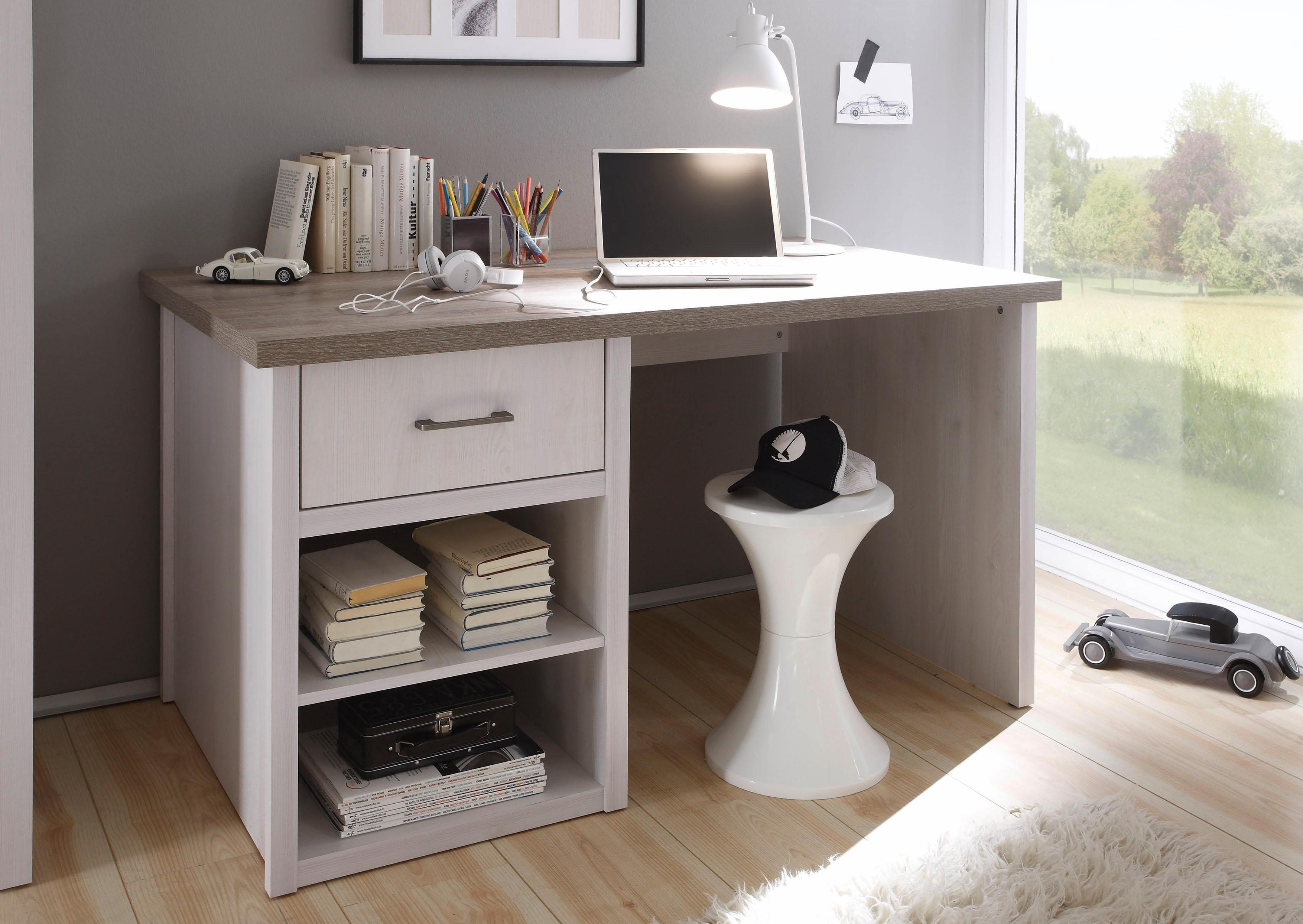 Schreibtisch »Marmstorf« | Büro > Bürotische > Schreibtische | Pinie - Weiß | Pinie