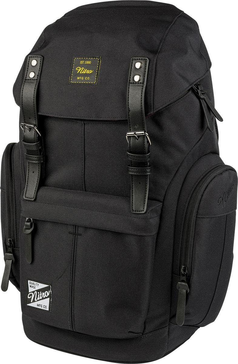 Nitro Rucksack mit Laptopfach, »Daypacker True Black«
