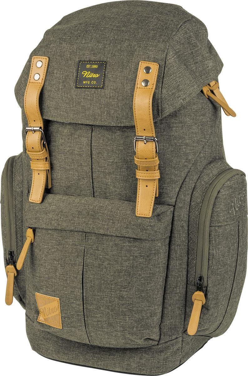 Nitro Rucksack mit Laptopfach »Daypacker Burtn Olive«