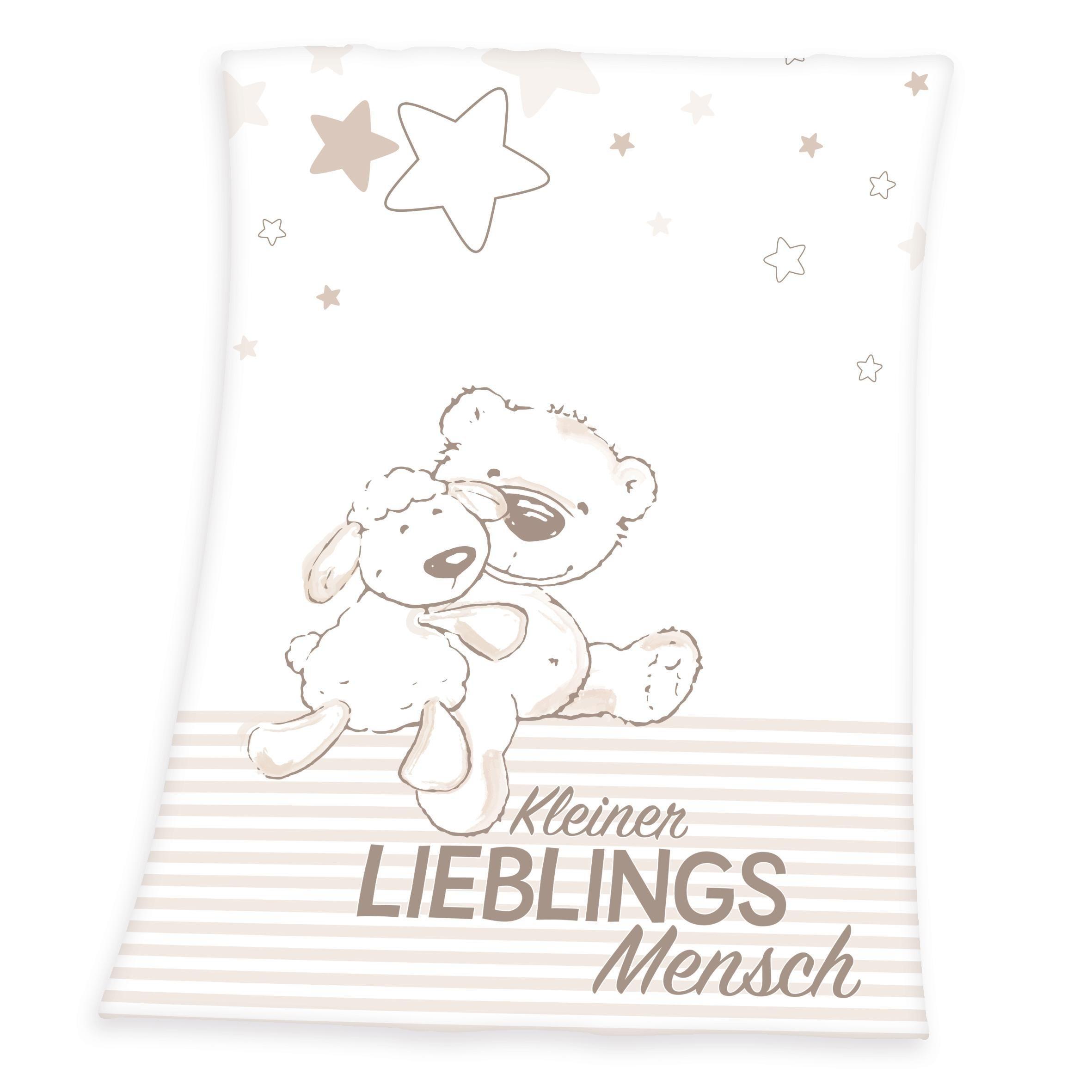 Babydecke, Herding, »Kleiner Lieblingsmensch«, mit Teddy und Schaf | Kinderzimmer > Textilien für Kinder > Babytextilien | Herding