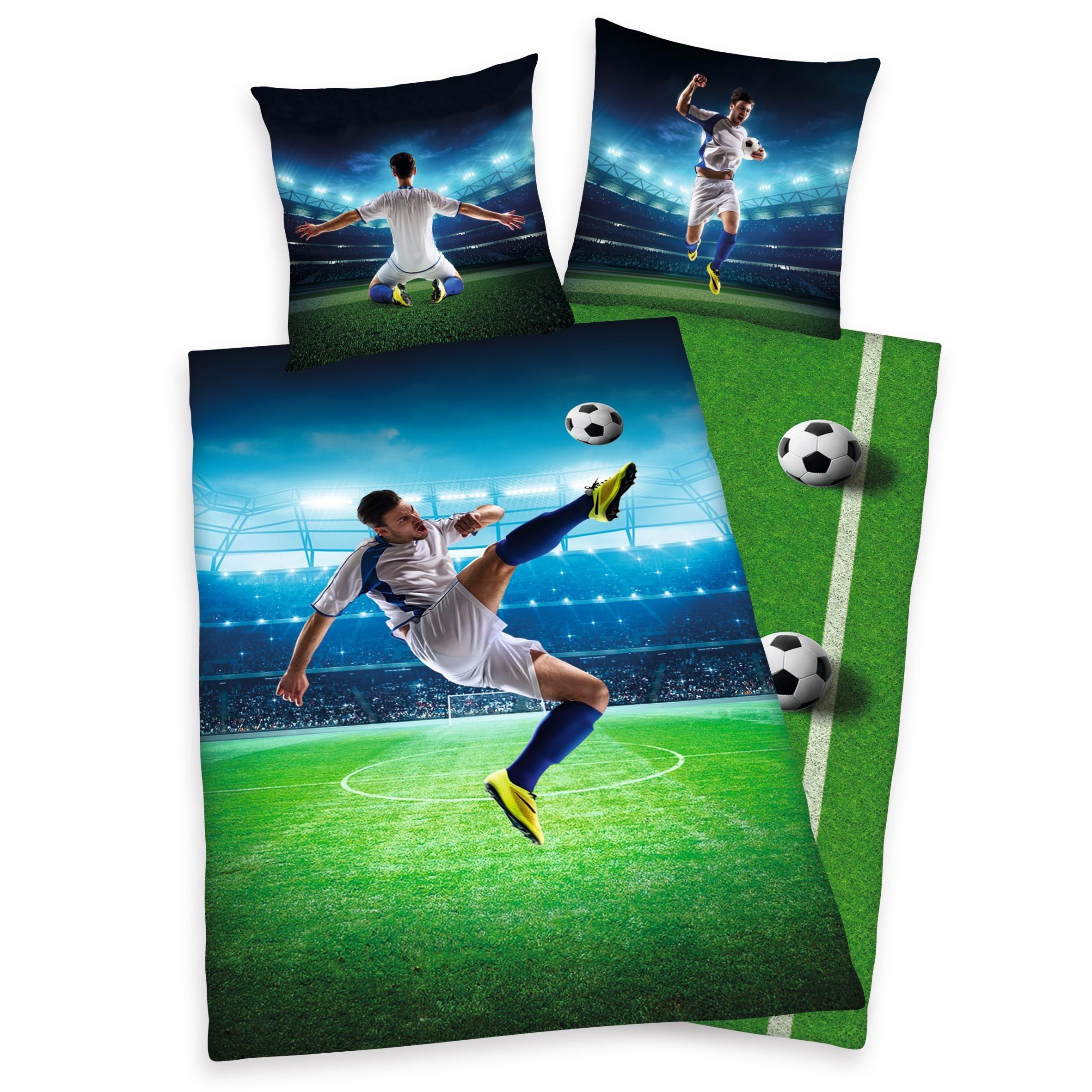 Kinderbettwäsche »Fußballschuss«, Young Collection, mit einem Fußballspieler | Kinderzimmer > Textilien für Kinder > Kinderbettwäsche | Young Collection