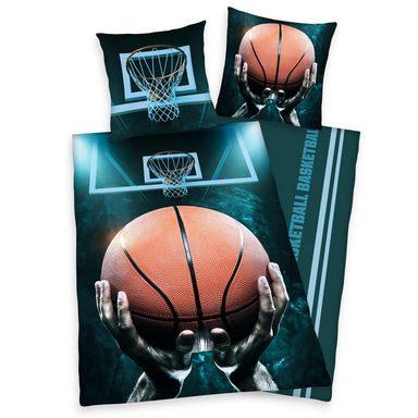 Jugendbettwäsche »Basketball«, Herding Young Collection, mit Basketballkorb