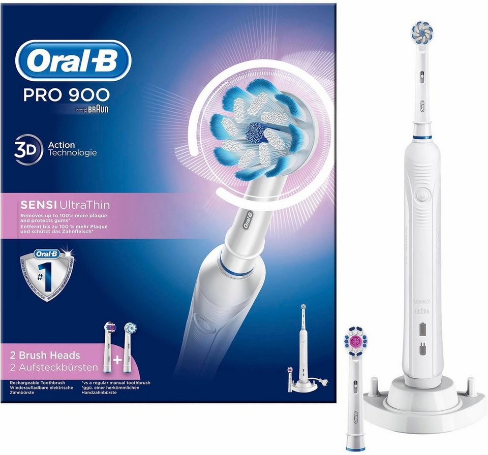 oral b elektrische zahnb rste pro 900 sensi ultrathin powered by braun online kaufen otto. Black Bedroom Furniture Sets. Home Design Ideas
