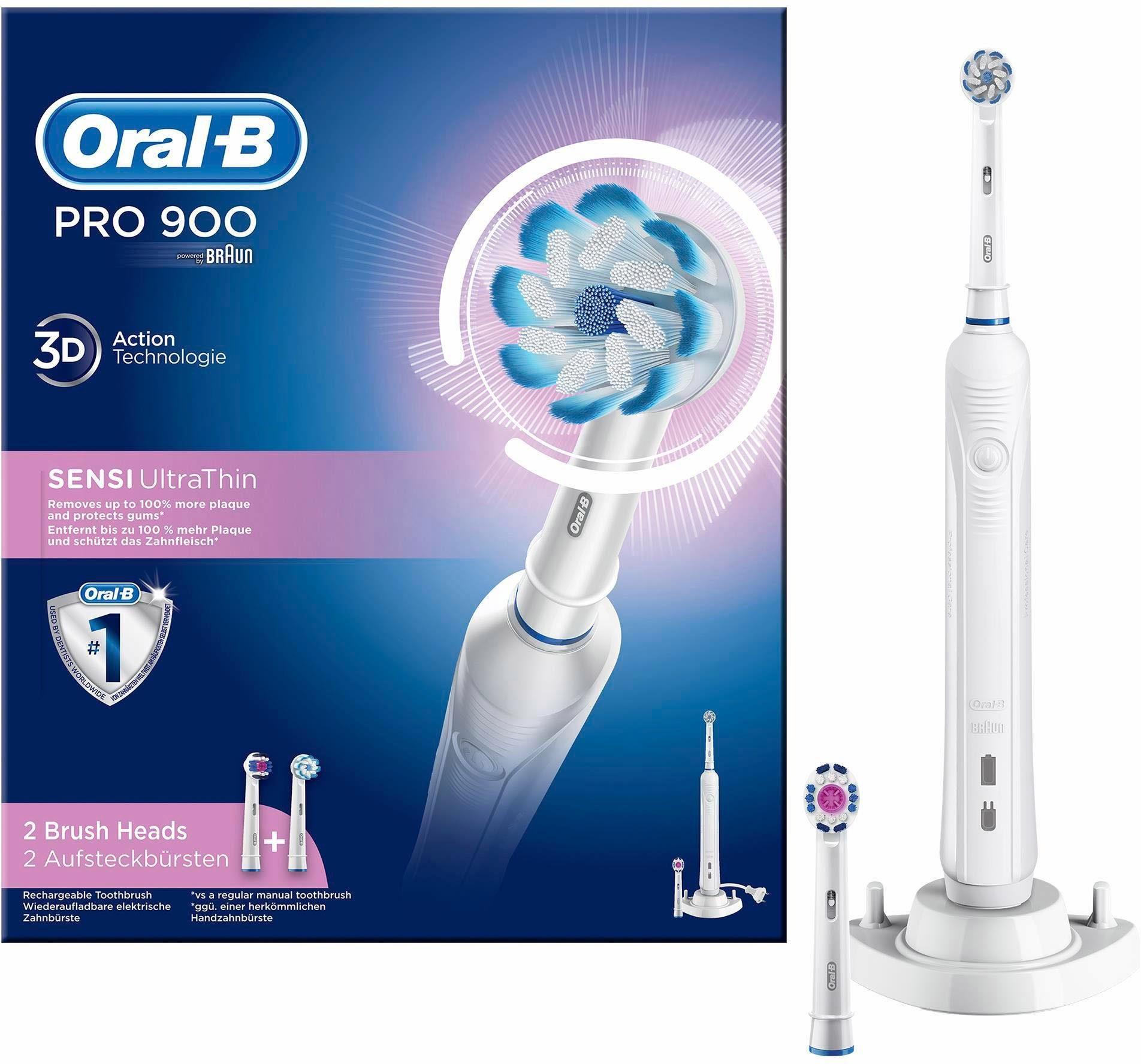 Oral-B Elektrische Zahnbürste PRO 900 Sensi Ultrathin, Powered By Braun