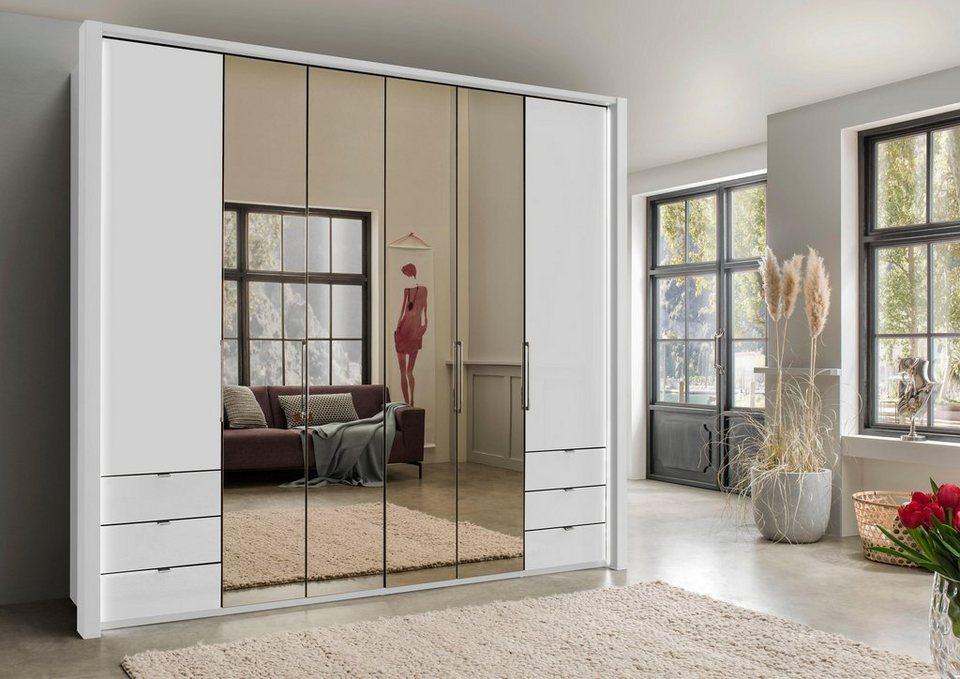 wiemann kleiderschrank mit spiegel und schubk sten online kaufen otto. Black Bedroom Furniture Sets. Home Design Ideas