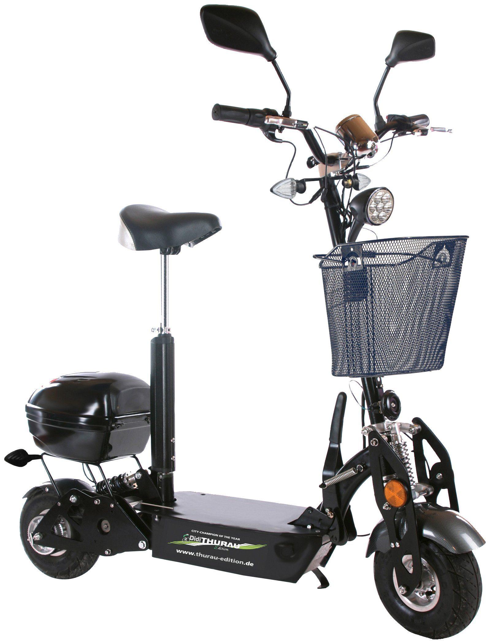 DIDI THURAU E-Scooter »City Roller Safety Plus RSP«, 20 km/h, Inkl. Rundum-Sorglos-Paket