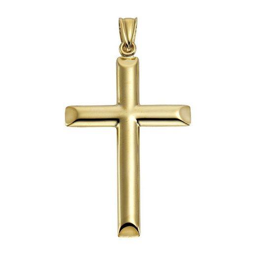 Vivance Anhänger »585/- Gelbgold Kreuz«