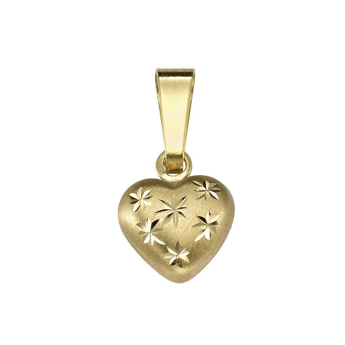 Firetti Anhänger »333/- Gelbgold Herz mit Sternen«