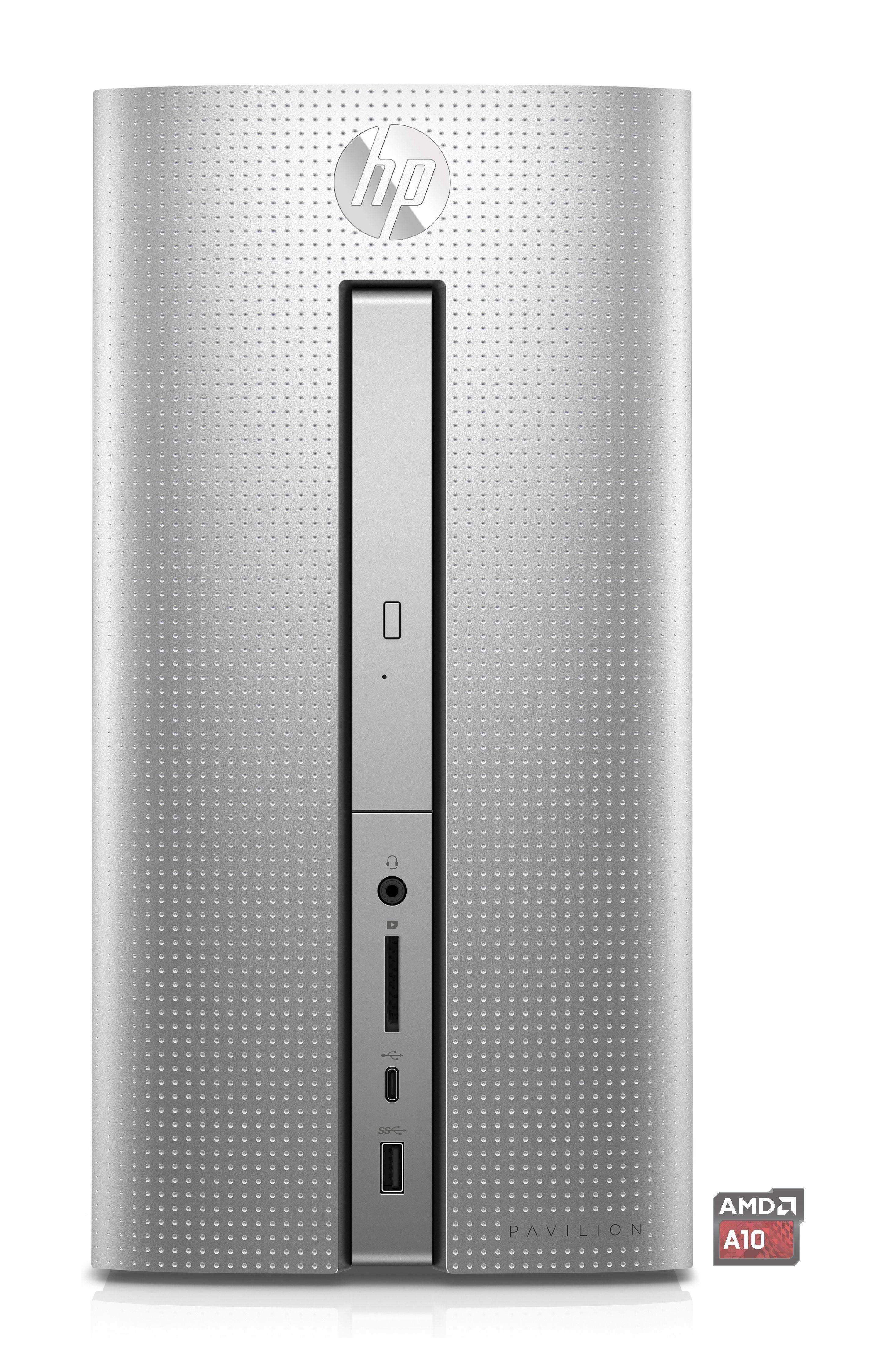 HP Pavilion Desktop 570-p063ng »Quad Core A10-9700, R7, 128 GB + 1 TB HHD, 8 GB«