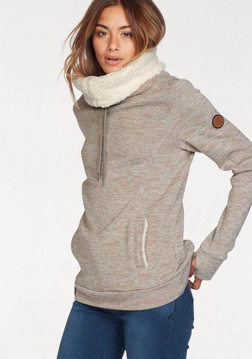Kangaroos Sweatshirt, With Cuddly Plush Fur-collar