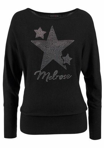Melrose Fledermauspullover, mit Sternen aus Glitzersteinen