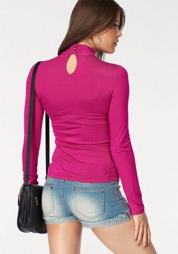 Melrose Langarmshirt With Choker-detail