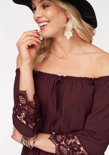 Melrose Carmen Blouse, With Crochet-lace