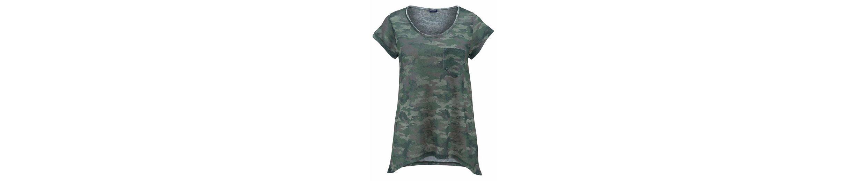 Blue Monkey Rundhalsshirt MILITARY, im trendy Military-Look