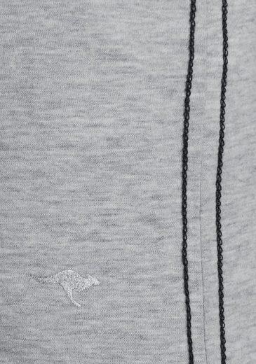 KangaROOS Rundhalsshirt, mit Glitzersteinen